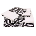 black and white zebra sheets
