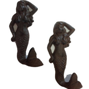 mermaid wall hooks