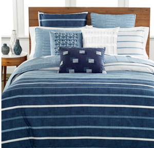 Blue Nautical Stripe Summer Bedding