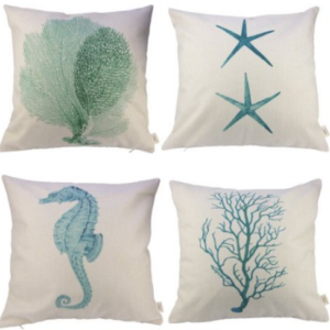 4 beach bedding pillow covers