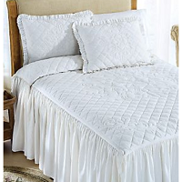 feminine white summer bedding