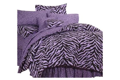 Purple Zebra Print Bedding in a Bag (Full) - Bedding ...